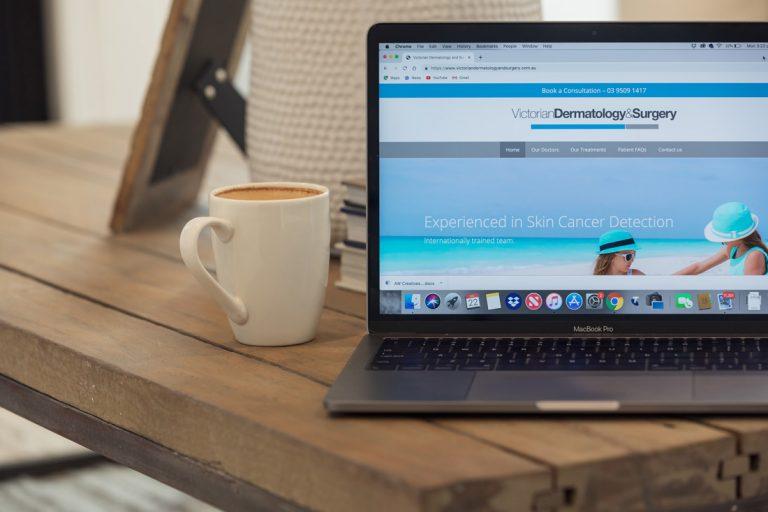 VDAS Website on Laptop