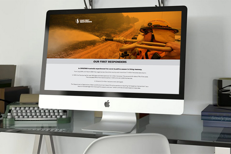 Our First Responders website sample